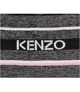 Black girl scarf with white logo