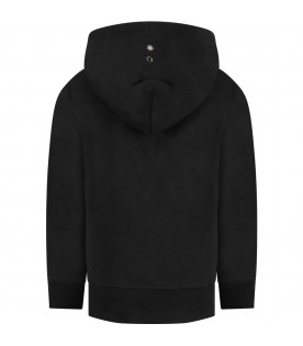 MOUTY PARIS Black boy sweatshirt with metallic details