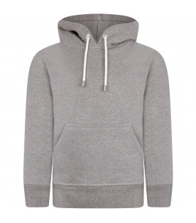 MOUTY PARIS Grey boy sweatshirt with metallic details