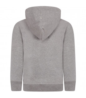Grey boy sweatshirt with metallic details