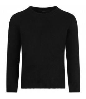MOUTY PARIS Black boy sweater with iconic details