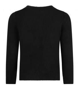 Black boy sweater with iconic details
