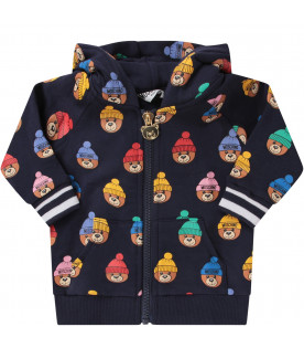 Blue babykids tracksuit with colorful Teddy Bear