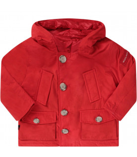 Red babyboy ''Artic'' parka with logo
