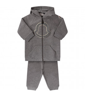 Grey babygirl tracksuit with iconic patch