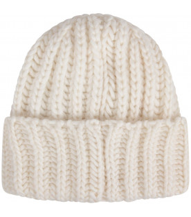 WOOLRICH KIDS Cappello bianco per bambini