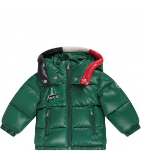 Green babyboy jacket with iconic patch