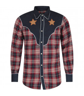 Multicolor boy shirt with stars
