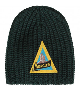 best sneakers f8a54 a0b49 Moncler Kids Cappello verde