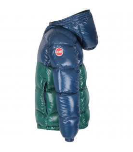 COLMAR ORIGINALS KIDS Green and blue boy jacket with iconic logo