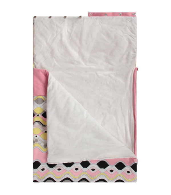 EMILIO PUCCI JUNIOR Pink babygirl sleeping bag with colorful print