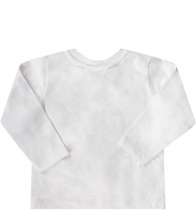 STELLA MCCARTNEY KIDS White babygirl T-shirt with colorful dragon