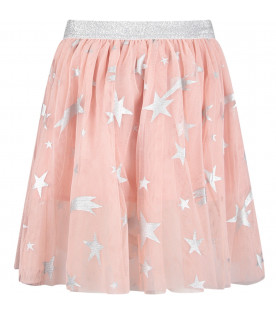 STELLA MCCARTNEY KIDS Pink girl skirt with colorful pois