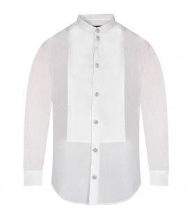 White boy shirt with silver buttons