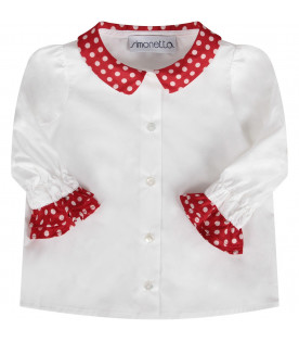 White babygirl shirt with polka-dots