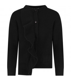 Black girl cardigan with ruffles