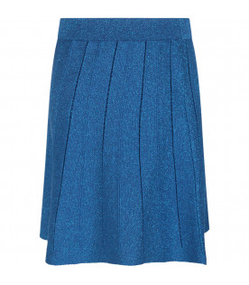 ALBERTA FERRETTI JUNIOR Azure girl skirt