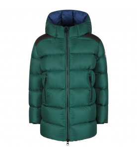 COLMAR ORIGINALS KIDS Green boy jacket with iconic patch