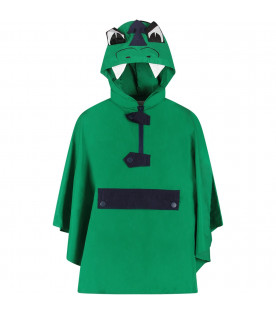 Green boy poncho with dragon