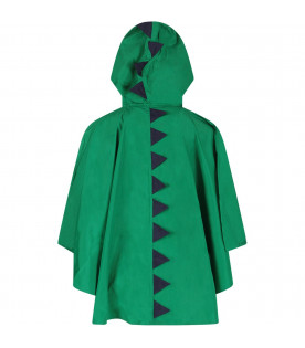 STELLA MCCARTNEY KIDS Green boy poncho with dragon