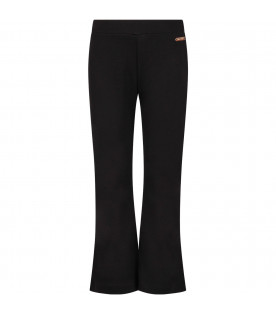 Black girl pants with logo