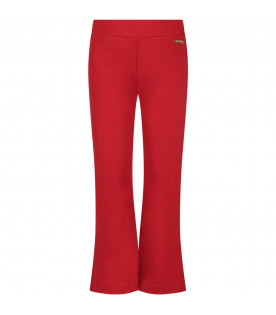 Red girl pants with logo