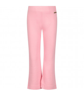 Pink girl pants with logo