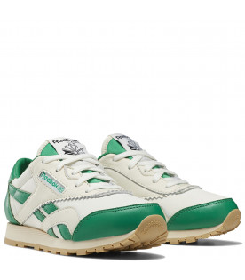 White and green kids Classic Nylon Reebok x Tao