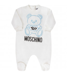 Light blue and white babyboy set with Teddy Bear