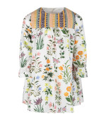 Oscar De La Renta White girl dress with colorful flowers and details