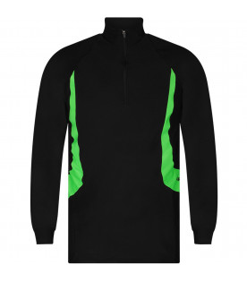 CINZIA ARAIA Black boy sweatshirt with neon green details
