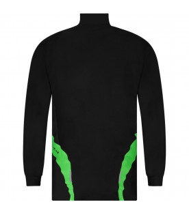 Black boy sweatshirt with neon green details
