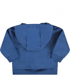 PAUL SMITH JUNIOR Royal blue babyboy sweatshirt with queen's guard