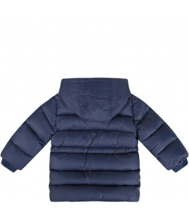 Blue babyboy jacket with double FF details