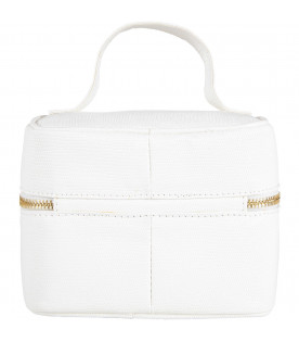 White babykids beauty case with logo