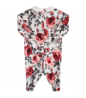 White babygirl babygrow with red roses