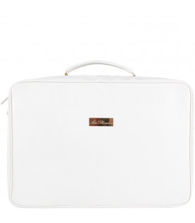 BLUMARINE BABY White babykids suitcase with logo