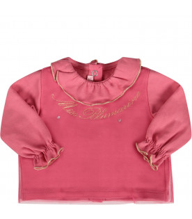 Fucshia babygirl suite with gold logo