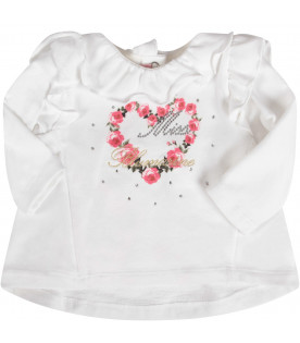 White babygirl suite with red roses