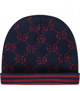 GUCCI KIDS Blue boy hat
