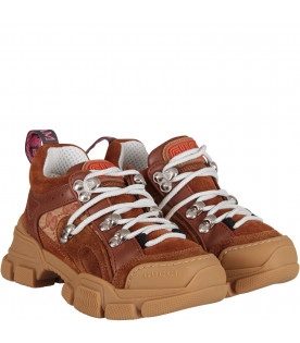 Brown and beige girl flashtrek sneaker,