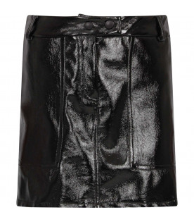 ALBERTA FERRETTI JUNIOR Black girl skirt with colorful logo