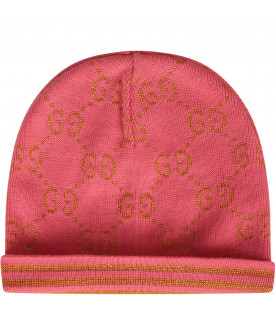 GUCCI KIDS Pink girl hat