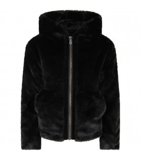 Black  girl faux-fur