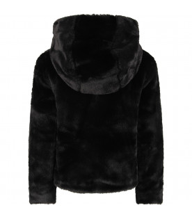TRUSSARDI JUNIOR Black  girl faux-fur