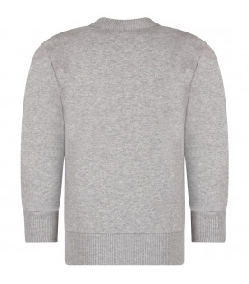 Grey boy sweatshirt with black logo