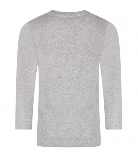 TRUSSARDI JUNIOR Grey boy T-shirt with logo