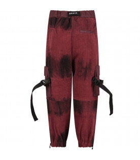 CINZIA ARAIA Bordeaux boy pants with white logo