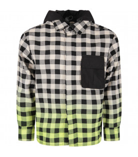 Checked boy shirt with iconic print