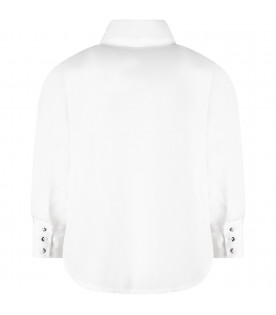 White girl ''Musa'' shirt with bow